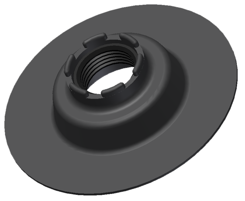 Product - Recessed Flange<br/>Cementable Neoprene